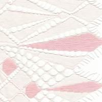 White/Peach Blossom Jacquard Geo Lace