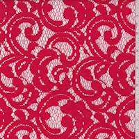 Red Berry Scroll Lace