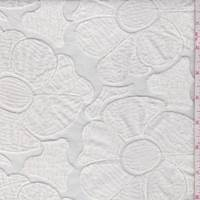 White Embroidered Floral Organza Home Decorating Fabric