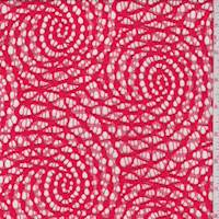 Bright Poppy Nautilus Scroll Deco Lace