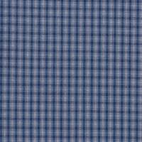 *1 7/8 YD PC--Stone/Navy Plaid Linen
