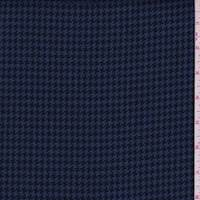 *2 5/8 YD PC--Ink Blue/Black Houndstooth Linen Blend Suiting