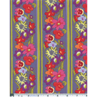 *2 1/4 YD PC--Purple Nel Whatmore Secret Garden Window Box Print Cotton