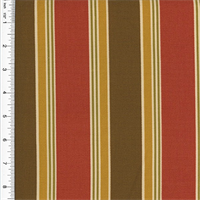 *3 YD PC--Designer Cotton Red/Brown Stripe Print Home Decorating Fabric
