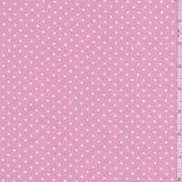 *2 YD PC--Creamy Pink/White Dot Cotton
