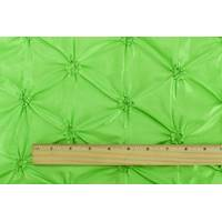 *4 YD PC--Lime Green Floral Embroidered Ruche Taffeta