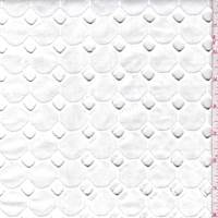 *3 YD PC--White Diamond Eyelet Poplin