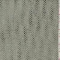 Sage Grey Cotton Mesh Eyelet