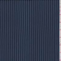 Dark Navy Stripe Peachskin