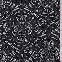 Black Medallion Lace