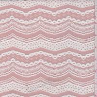 Shadow Blush/White Eyelet Swag Sweater Knit