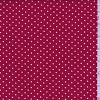 *1 YD PC--Cherry/White Dot Cotton
