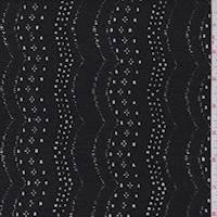Jet Black Eyelet Swag Sweater Knit