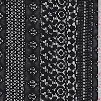 Black Deco Stripe Lace