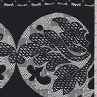 Slate Black Baroque Jacquard Mesh