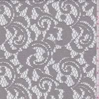 *7/8 YD PC--Taupe Scroll Lace