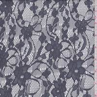 Vapor Grey Floral Lace