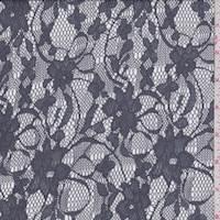 Vapor Grey Floral Lace