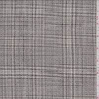 *4 YD PC--Ecru/Taupe Glenplaid Tropical Wool Suiting