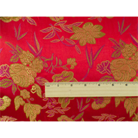 *1 YD PC--Red/Multi Floral Brocade