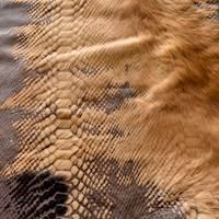 Brown/Beige Fur/Leather Hide