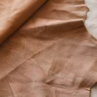 Baked Tan Beige Textured Leather Hide