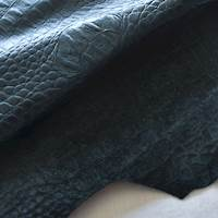Night/Navy Blue Reptile Skin Leather Hide