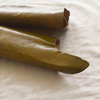 Olive Green Leather Hide