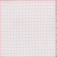 *2 3/8 YD PC--White/Orange Check Cotton Shirting