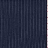 *1 1/2 YD PC--Navy Pinstripe Suiting