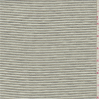 *3 1/8 YD PC--Gray/White Striped Jersey Knit