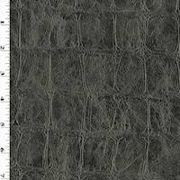 *3 1/2 YD PC --Deep Gray Reptile Skin Home Decorating Fabric