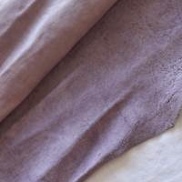 Faded Mauve Purple Leather Hide