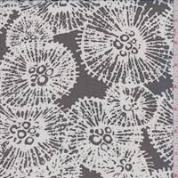 *3 YD PC--Black/White Puff Silk Chiffon