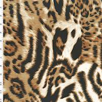 *2 1/2 YD PC--Brown/Black/White Leopard Print Knit Jersey