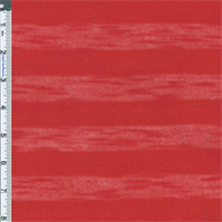 *2 1/2 YD PC--Lipstick Red Sheer Stripe Sweater Jersey Knit