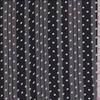 Black Polka Dot Crinkle Chiffon