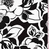 White/Black Mod Floral Poplin