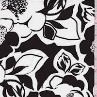 White/Walnut Mod Floral Poplin