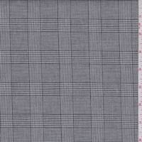 *2 1/4 YD PC--Taupe/Grey Glen Plaid Cotton Suiting