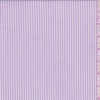 *2 3/4 YD PC--Lilac Stripe Oxford Cotton Shirting