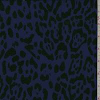 *6 YD PC--Violet/Black Animal Print Activewear Knit