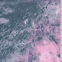 *3 1/2 YD PC--Stone Grey/Pink Marble Print Stretch Twill