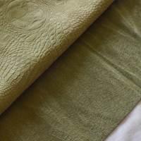 Herbal Green Reptile Skin Leather Hide