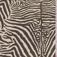 *2 1/2 YD PC--Beige/Timber Zebra Crepe Georgette