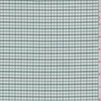 *2 YD PC--Jade/Sage Check Cotton Oxford Shirting