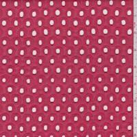 *1 7/8 YD PC--Cosmopolitan Red Circular Eyelet