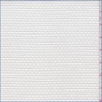 *2 1/2 YD PC--Optic White Basketweave Jacquard Suiting