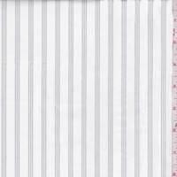 *2 YD PC--White/Grey Stripe Cotton Twill Shirting