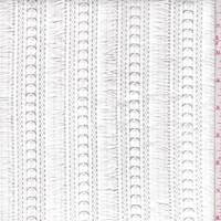 *1 3/4 YD PC--White Novelty Fringe Lace